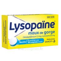 LYSOPAÏNE Comprimés à sucer maux de gorge sans sucre 2T/18 à NAVENNE