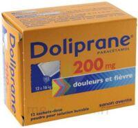 DOLIPRANE 200 mg Poudre pour solution buvable en sachet-dose B/12 à NAVENNE