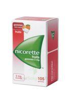 Nicorette 2 mg Gomme à mâcher médicamenteuse sans sucre fruits Plq/105 à NAVENNE