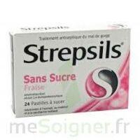 STREPSILS FRAISE SANS SUCRE, pastille édulcorée à l'isomalt, au maltitol et à la saccharine sodique à NAVENNE