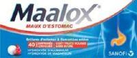 MAALOX MAUX D'ESTOMAC HYDROXYDE D'ALUMINIUM/HYDROXYDE DE MAGNESIUM 400 mg/400 mg SANS SUCRE FRUITS ROUGES, comprimé à croquer édulcoré à la saccharine sodique, au sorbitol et au maltitol à NAVENNE