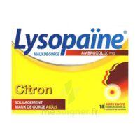 LysopaÏne Ambroxol 20 Mg Pastilles Maux De Gorge Sans Sucre Citron Plq/18 à NAVENNE