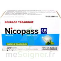 Nicopass 1,5 mg Pastille sans sucre menthe fraîcheur Plq/96 à NAVENNE