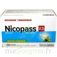 Nicopass 2,5 mg Pastille menthe fraîcheur sans sucre Plq/96 à NAVENNE