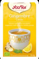 Yogi Tea Tisane Ayurvédique Gingembre Citron Bio 17 Sachets/1,8g à NAVENNE