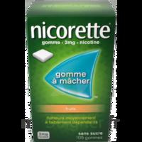 Nicorette 2 mg Gomme à mâcher médicamenteuse sans sucre fruits Plq/30 à NAVENNE