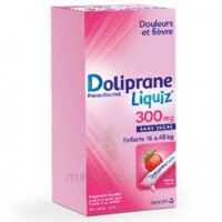 Dolipraneliquiz 300 mg Suspension buvable en sachet sans sucre édulcorée au maltitol liquide et au sorbitol B/12 à NAVENNE