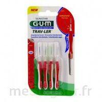 GUM TRAV - LER, 0,8 mm, manche rouge , blister 4 à NAVENNE