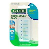 GUM PROXABRUSH CLICK, 1,6 mm, bleu , blister 6 à NAVENNE