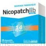 NICOPATCHLIB 14 mg/24 h Dispositifs transdermiques B/28 à NAVENNE