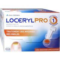 LOCERYLPRO 5 % V ongles médicamenteux Fl/2,5ml+spatule+30 limes+lingettes à NAVENNE