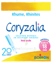 Boiron Coryzalia Solution buvable unidose B/20 à NAVENNE